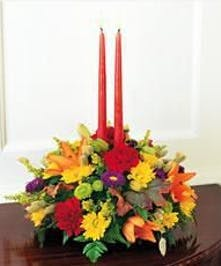 Fresh Autumn flowers! Candles Included.